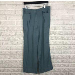 J. Jill Genuine Fit Pants 8P Linen High Rise Wide